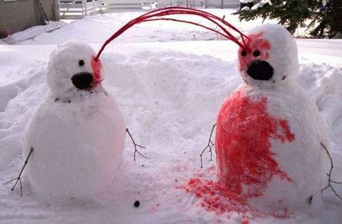 uaaarg bloody Snowman